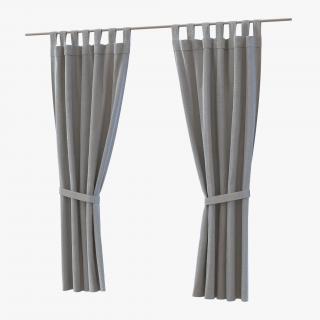 Curtain Gray 3D