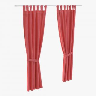 3D Curtain Red