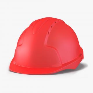Safety Helmet Red 3D