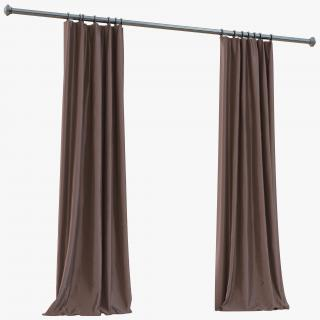 3D model Curtain 5 Brown