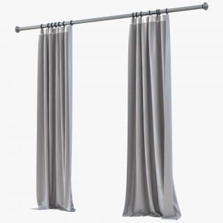 Curtain 5 Gray 3D model