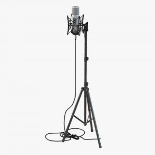 Studio Microphone Rode and Stand 2 3D model