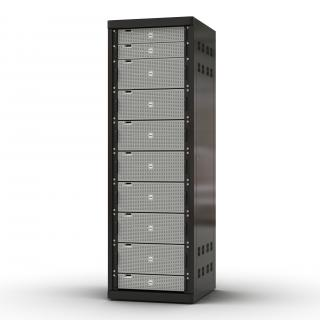 3D model Dell Servers in Rack