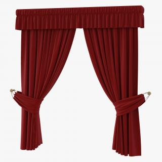 3D Curtain 4 Red model