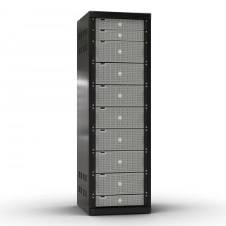 3D model Generic Servers in Rack 2