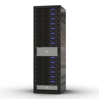 3D model Servers in Rack