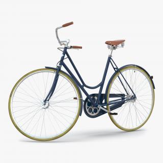 3D City Bike Blue Rigged