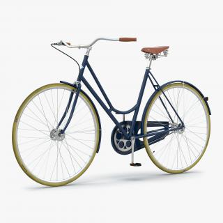 City Bike Blue 3D model