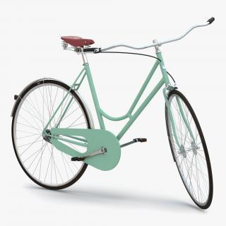 City Bike Green Rigged 3D
