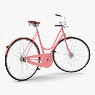 3D City Bike Pink Rigged