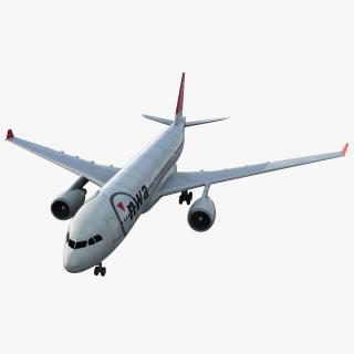 Jet Airliner Airbus A330-200 Northwest Airlines 3D