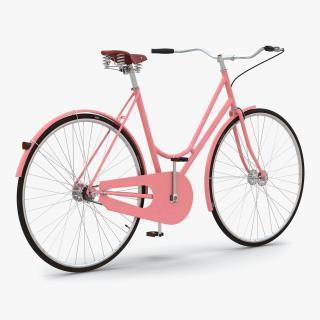 City Bike Pink 3D model