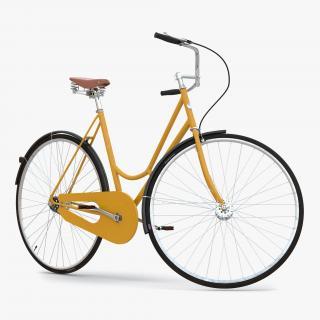 3D City Bike Yellow Rigged model