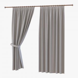 Curtain 2 Gray 3D model