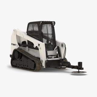 Compact Tracked Loader Bobcat With Brush Saw 3D model