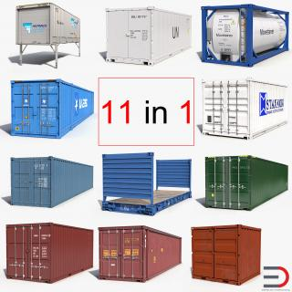 3D Containers Collection