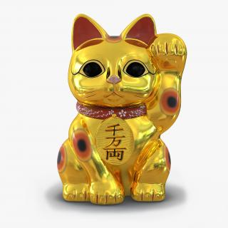 3D model Maneki Neko 2 Golden