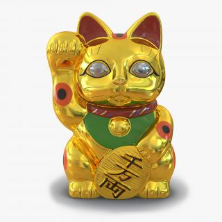3D model Maneki Neko 3 Golden