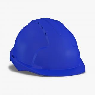 3D Safety Helmet Blue model