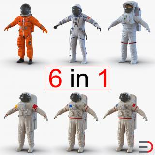 Space Suits Collection 2 3D Models 3D model