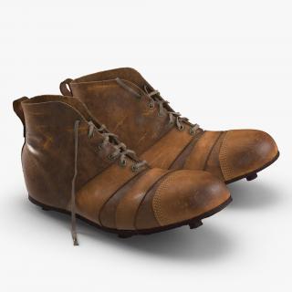 Vintage Football Boots 3D