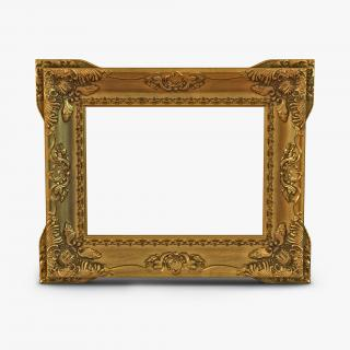 3D Baroque Picture Frame 2 model