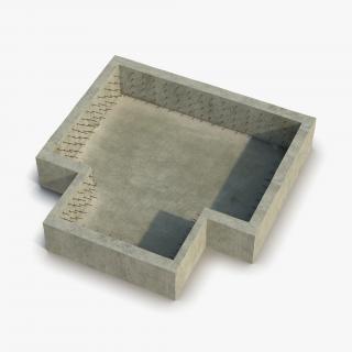 Building Foundation 3D model