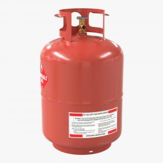 Gas Cylinder 4 3D model