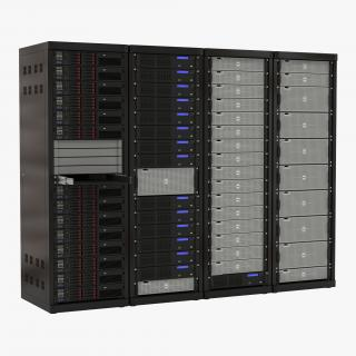 3D Dell Server Racks Set