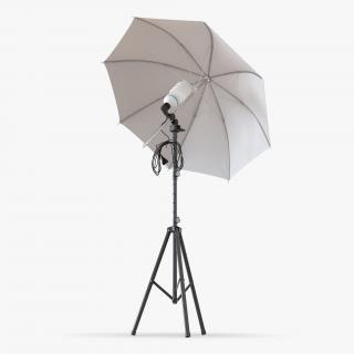 3D model Photo Studio Lighting Umbrella