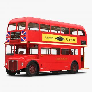 London Bus Routemaster Rigged 3D model