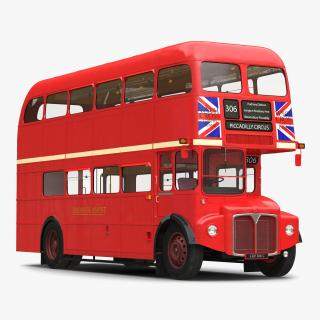 3D London Bus Routemaster Simple Interior model