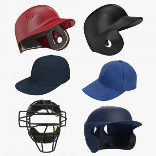 3D Baseball Hats Collection 3
