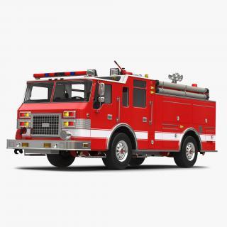 Fire Truck Apparatus 3 3D