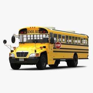 3D School Bus 2 Simple Interior model