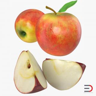Apple Fruit Collection 3D