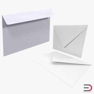 3D model Envelopes Collection