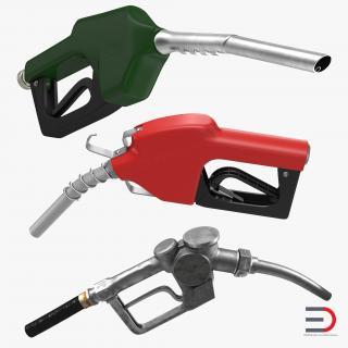 3D Fuel Nozzles Collection model