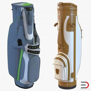 3D model Golf Bags Collection