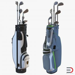 Golf Bags Collection 2 3D