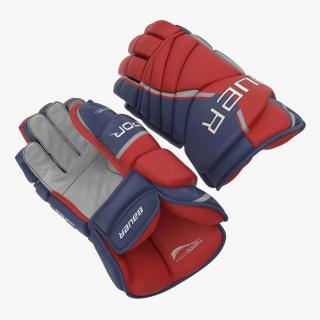 Hockey Gloves Bauer 3D model