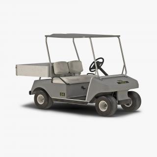 Golf Cart Gray 3D model