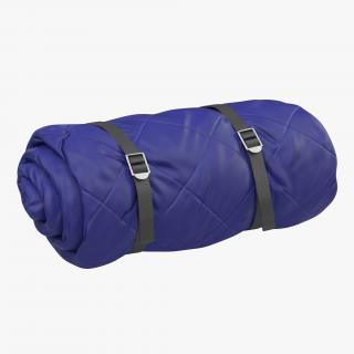 Folded Blue Sleeping Bag 3D model