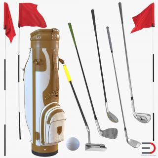 3D model Golf Equipment Collection