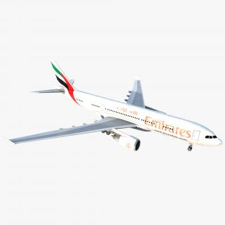 Airbus A330-P2F Emirates 3D model