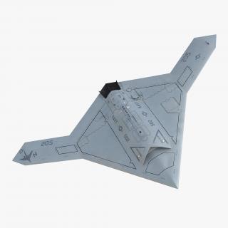 3D Northrop Grumman X-47B UAV 2 model