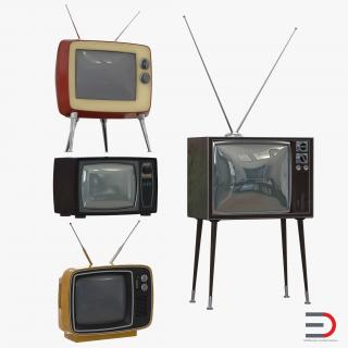 Retro TV Collection 3D model