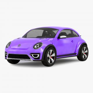 Volkswagen Beetle 2016 Purple 3D model