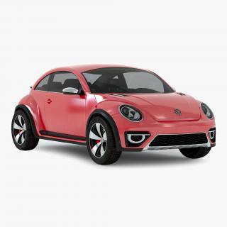 3D Volkswagen Beetle 2016 Red