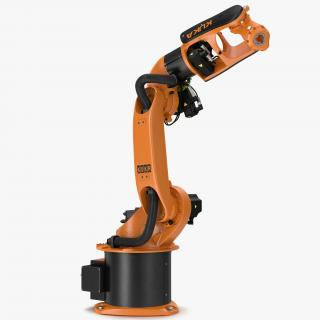 3D model Kuka Robot KR-16 arc HW Rigged